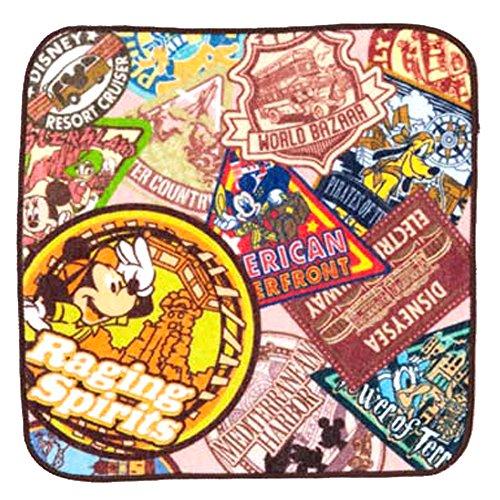ワッペン柄 圧縮 ミニ タオル 四角( レイジングスピリッツ ) ミッキー マウス ハンカチ ( ディズニー リゾート限定 グッズ お土産 ) mickey