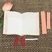 ruixuered-ブックページ金属切削ダイスDIYスクラップブッキング紙カードクラフトパンチステンシル