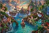 西洋絵画 ディズニー ピーターパンズ ネバーランド 42x30cm トーマス キンケード Peter Pan's Never Land [並行輸入品]