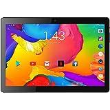 タブレット10インチAndroid 9.0 3G通話WIFIタブレット2GB/32GB オフィス学習用 オンラインコース3DゲームタブレットLCD電子ノート解像度1280x800 Bluetooth/Google GPS USB充電器 デュアルSIMカードクアッドコアCPU デュアルカメラANTEMPER 黒