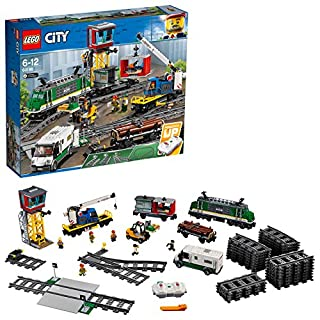 LEGO City Cargo Train 60198 Remote Control Train Building Set with Tracks for Kids, Top Present and Christmas Gift for Boys and Girls (B078K4K423) | Amazon Products