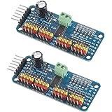 VKLSVAN 2個 PCA9685 16チャンネル 12-ビット PWM Servo モーター ドライバー IIC モジュール Arduinoと互換