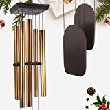 Large Wind Chimes Outdoor Deep Tone, 48 Inch Amazing Grace Wind Chime Sympathy with 5 Big Aluminum Tubes Tuned Soothing Melod