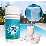 ZOUJIN 50pcs Swimming Pool Disinfection Effervescent Tablets Swimming Pool Cleaning Tablets Disinfection Pills Chlorine Table