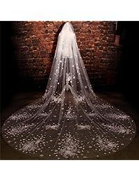 シュウクラブ- 花嫁のヘッド糸美しい花大ロングパラグラフテール糸韓国の花嫁の結婚式のベール