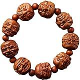 Natural Wood Hand Carving Bangle Bracelet