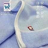 【本場今治産綿100%5重ガーゼケット/日本製/ダブル・ロングサイズ180cmx230cm】大自然恵みの中で育ちました綿をふんだんに使って織りました】【カラー:ピンク・ブルー】2色揃えました。触れただけで涼しく肌ざわりがとってもやわらかなケットです。(ご家庭のお洗濯出来ます。) (ブルー)
