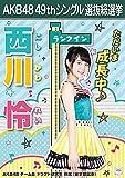 【西川怜 AKB48 チームB ドラフト研究生】 AKB48 願いごとの持ち腐れ 劇場盤 特典 49thシングル 選抜総選挙 ポスター風 生写真