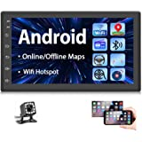 Podofo Double Din Car Radio GPS Navigation Android Car Stereo 7 Inch HD Touch Screen Car MP5 Player Dual USB AUX in Support B