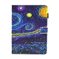 iPad Pro 9.7 ケース iPad Pro 9.7 カバー アイパッド プロ 9.7 カバー 人気 星空柄 レザーケース 多段階調整可 カード収納 スタンド機能 休眠機能付き マグネット式 タブレットカバー ケース 耐衝撃 薄型 全面保護 手帳型 スマートケース【Astarz】