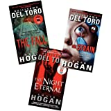 Guillermo del Toro Chuck Hogan Strain Trilogy 3 Books Collection Pack Set (The Fall, The Night Eternal, The Strain)