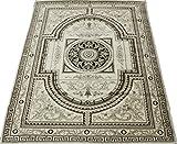輸入絨毯 ウール 17万ノット ウィルトン織り udroyal-140200 (SUL) 約140×200cm ベージュ トルコ製 輸入カーペット ラグ じゅうたん