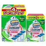 【Amazon.co.jp 限定】【まとめ買い】 スクラビングバブル トイレ洗浄剤 トイレスタンプ フローラルハーブの香り 付替用(2本入り)+ジャンボパック(4本入り) 6本セット 36スタンプ分