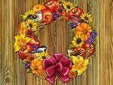 秋Wreath–キャンバスプリント(28x 20cm、額なし)