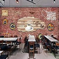 Mbwlkj 3D写真の壁紙ヨーロッパアメリカレンガの壁の壁画の夢を食べるショップバーコーヒーショップの背景壁紙-300cmx210cm