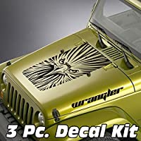 jeepazoid–ジープラングラーブラックアウトデカールキット–Eagle面Wrangler ピンク jeep blackout kit 0015 pnk