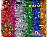 Angle 【Xmasツリー飾りシリーズ】 キラキラ モール 全6色より  (紫)