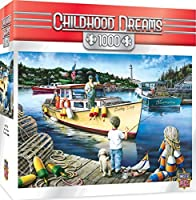 MasterPieces Childhood Dreams Lucky Days - Fishing 1000 Piece Jigsaw Puzzle by Dan Hatala [並行輸入品]