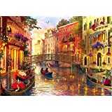 Jigsaw Puzzles for Adults 1000 Piece Puzzle Romantic Venice Waters City Scene Puzzles Challenging Puzzle Game