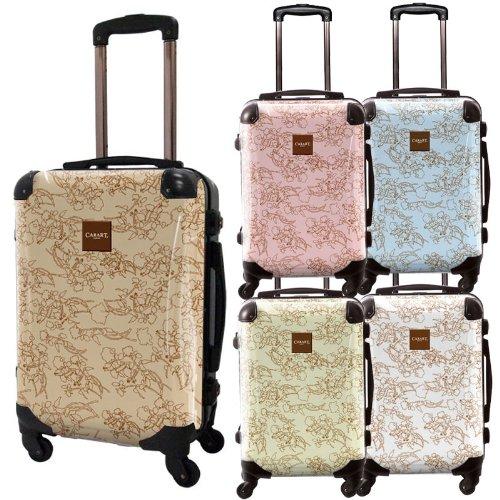 デパーチャーズスーツケース/プロフィトロール/ベーシック/フレーム4輪/TSAロック/機内持込可能/ホワイト ライトブラウン ライトピンク ライトブルー ライトイエロー/CRA01-002