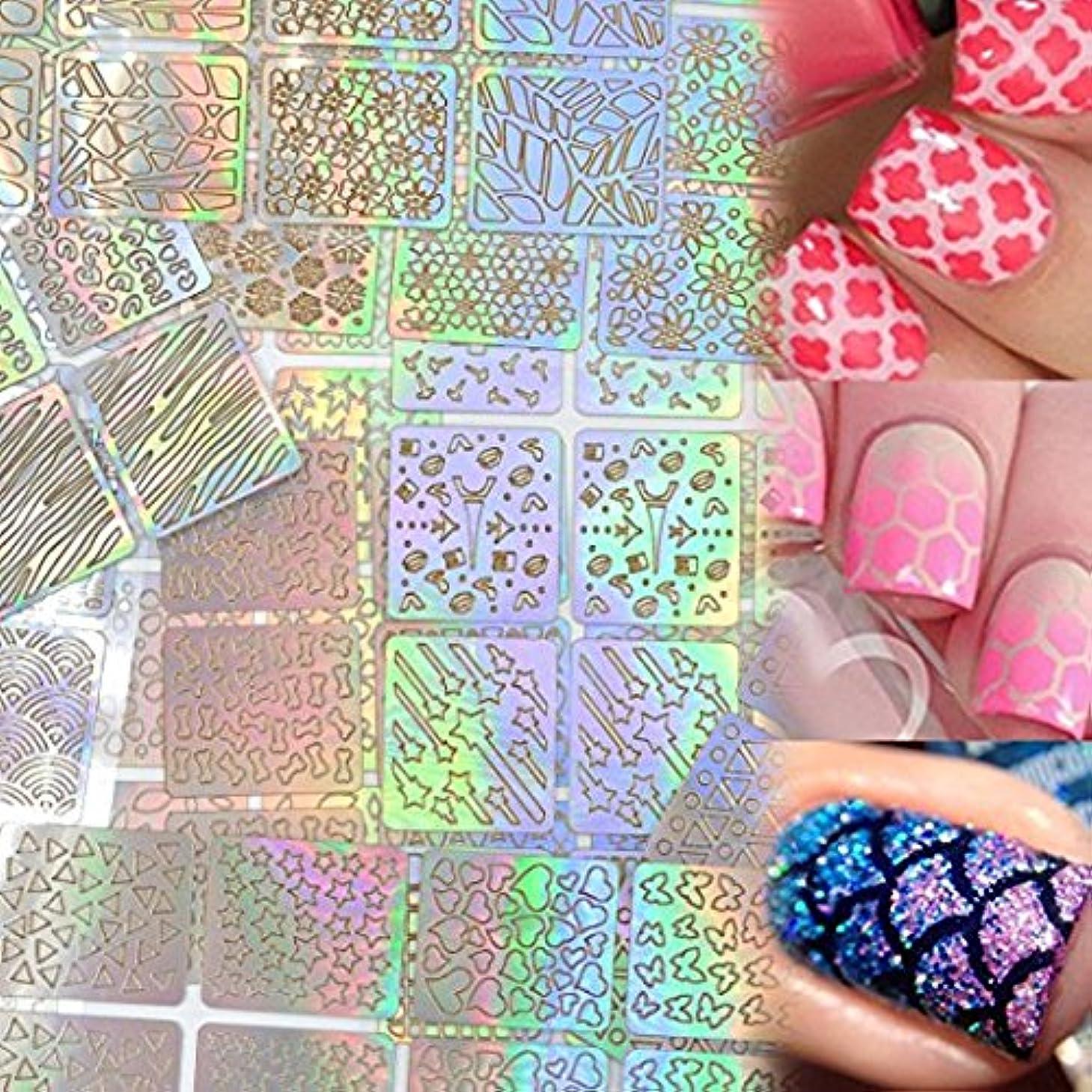 オッズ相対性理論探すLady Up ネイル用装飾 可愛いネイル飾り テープ ネイル パーツ ネイルーシール 今年流行ネイティブ柄ネイルステッカー 24枚セット