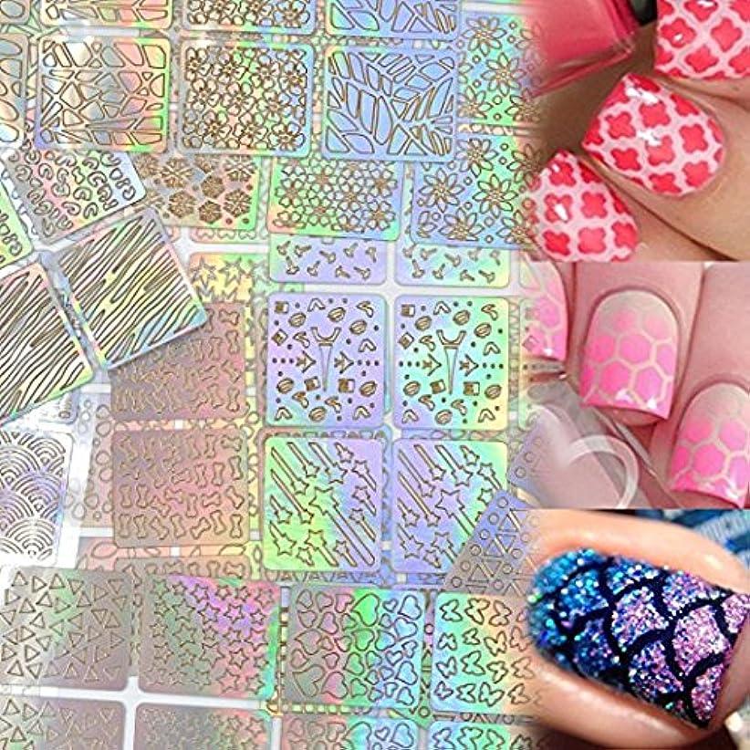 Lady Up ネイル用装飾 可愛いネイル飾り テープ ネイル パーツ ネイルーシール 今年流行ネイティブ柄ネイルステッカー 24枚セット