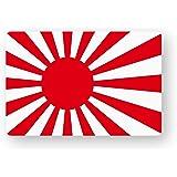 NEW 国旗ステッカー(旭日旗) SSサイズ 2枚組 再帰反射 耐水 日本 ジャパン 旭日旗SS(2)