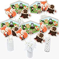 Woodland Creatures - Baby Shower Birthday Party Centrepiece Sticks - Table Toppers - Set of 15