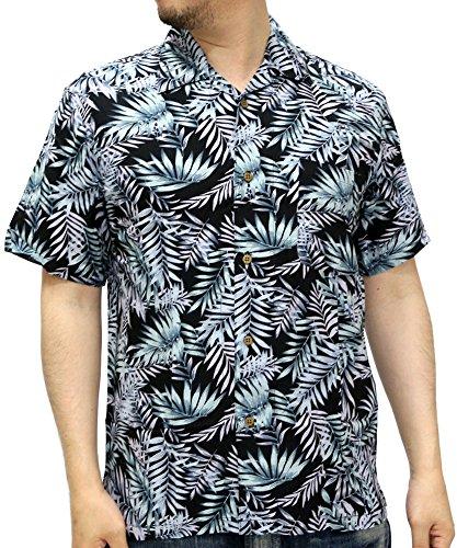 (ルーシャット) ROUSHATTE アロハシャツ 半袖 シャツ レーヨン ハイビスカス 12color L 柄B