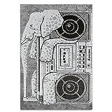 Kiddos Personalized画像印刷Elephantラジオ120ピースジグソーパズル