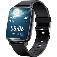 「2021新時代1.69フルタッチスクリン」スマートウォッチ Bluetooth5.2 HD大画面 音楽制御 着信電話通…