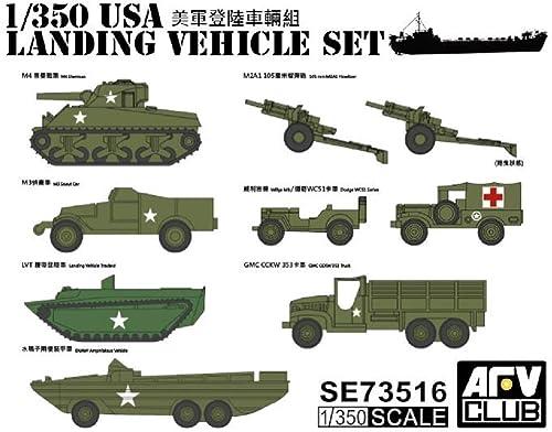 AFVクラブ 1/350 第二次世界大戦 アメリカ軍 揚陸車輌セット プラモデル SE73516