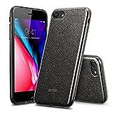 iPhone8 Plus 2017 ケース シリコン ESR iPhone7 Plus カバー 高品質TPU ソフトバンパー [衝撃吸収 傷防止 超軽量 ワイヤレス充電に影響なし おしゃれ キラキラ] iPhone8 Plus/iPhone7 Plus通用(ブラック)