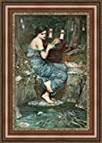 (v04–20–21) ジョン・_ William Waterhouse The Charmer_フレーム_キャンバス_ Giclee_プリント_ w22_ X h34 >[Small] #06-Brown/Gold V04-20F-MD393-03