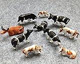 AN8701-30 牛模型 ウシ カウ 模型  1/150用 30頭セット 養殖場 牧場 牛場 ファーム モデル  レイアウト・ジオラマ・建築模型・DIY