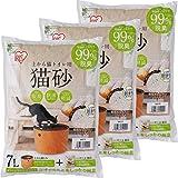 アイリスオーヤマ 上から猫トイレ用砂 猫砂 7L×3袋 UNS-7L
