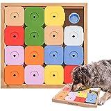 ペット おもちゃ Dog' SUDOKU スライドパズルカラフル ジーニー/犬用 知育玩具 知育トイ 犬 ノーズワーク おやつ 探しトレーニング おうち時間 訓練 しつけ ストレス解消 運動不足 認知症 予防 早食い防止 室内 遊び 犬用品 猫