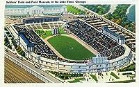 シカゴ、イリノイ州–Aerial View Of Soldiers 'フィールドとフィールド博物館at the Lake Front 12 x 18 Art Print LANT-26781-12x18