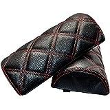 ソリオバンディット ダイヤキルトネックパッド 黒×赤ステッチ 2個セット