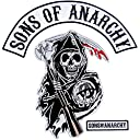 Sons of Anarchy Text and Arched Reaper Logo Patch Set Men 039 s サン オブ アナーキー ロゴ パッチ セット (メンズ) 並行輸入品