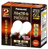 パナソニック パルックボールプレミア A15形 電球色 (2個入) 電球60形タイプ 口金直径26mm  810 lm EFA15EL10H22T