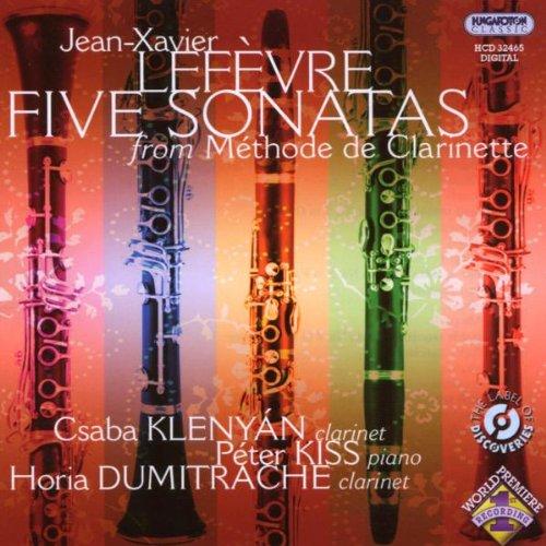 Jean-Xavier Leftvre-Five Sonatas from Mtthode De C