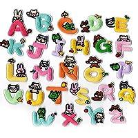 アップアップ(upup)DIY大人気アイロンタイプ パッチワッペン 超可愛い動物アルファベット 大容量26枚セット