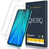 [2-Pack] QHOHQ Screen Protector for Xiaomi Redmi Note 8 Pro,[9H Hardness] HD Transparent Scratch-Resistant [Bubble Free] Temp