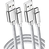 """2 Pack 6.5 Ft Extra Long 2.1A Rapid Micro USB Cable for Fast Charging Kindle fire Hd, Hdx 6"""" 7"""" 8.9"""" 9.7"""" 10"""" 10.1"""" 11"""" 11.6"""""""