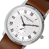 [フレデリックコンスタント]FREDERIQUE CONSTANT メンズ スモールセコンド シルバーケース ホワイト文字盤 37mm ブラウン レザー FC-235M4S6-BROWN 腕時計 [並行輸入品]