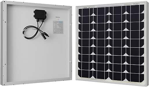 Renogy 50W 12V高効率単結晶ソーラーパネル太陽光パネル【日本倉庫出荷 5年品質保証 メーカー販売】