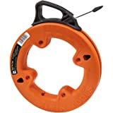 Klein Tools 56005 25-Feet Depth finder High Strength 1/4-Inch Wide Steel Fish Tape