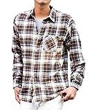 マイノリティセレクト(MinoriTY SELECT) ネルシャツ メンズ チェック ネル シャツ 長袖 赤 黒 L K柄(23)