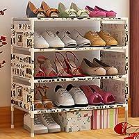 靴ラック_シンプルなアセンブリシューズラック多層、防塵多機能ファブリックストレージキャビネット(多色)